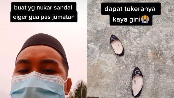 VIRAL Pria Ini Kehilangan Sandal Eiger saat Shalat Jum'at, Ditukar dengan Sepatu Wanita