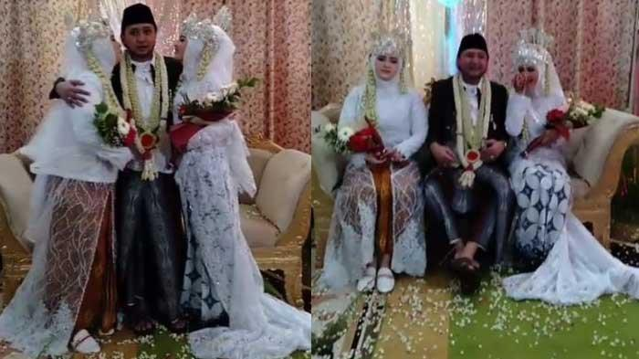 Istri pertama Ra Karror, Nyai Hj Qonita Ari Aghni (Neng Aan) (kanan), sedangkan istri kedua berada di sebalah (kiri) sang suami.