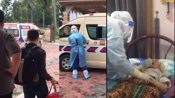 Kisah Sedih Satu Persatu Anggota Keluarga Dijemput Ambulans untuk Jalani Karantina Covid-19