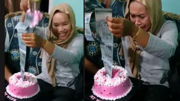 Viral Suaminya Berikan Hadiah Uang RM 4000 dalam Kue Ultah Istri, Warganet Mention Suaminya