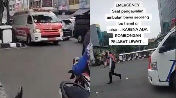 Viral Video Laju Mobil Ambulans Disetop Petugas karena Ada Rombongan Pejabat Lewat, Netizen Berang