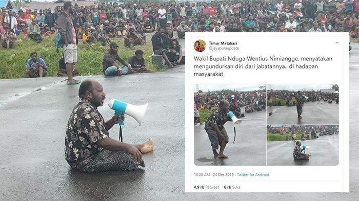 Viral Wakil Bupati Nduga Mengundurkan Diri Demi Rakyat saat Orasi, Bagaimana tanggapan Kemendagri?