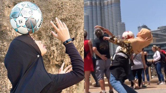 Viral, Aksi Wanita Ini Berlatih Keras Freestyle Sepak Bola, Sampai Membawanya ke Burj Khalifa Dubai