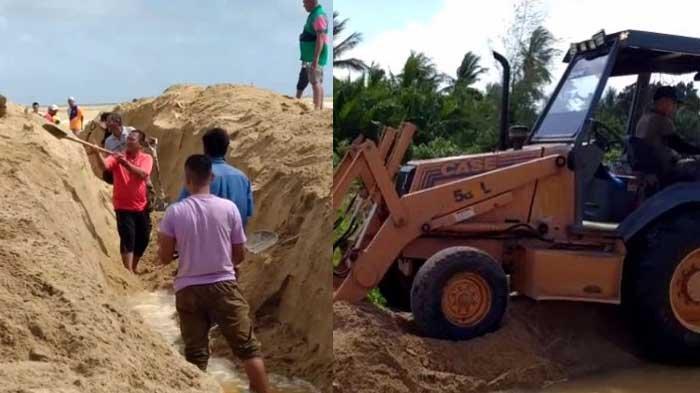 VIRAL Warga Gotong Royong Buat Laluan Banjir ke Laut, Berhasil Selamatkan Kediaman dari Air Bah