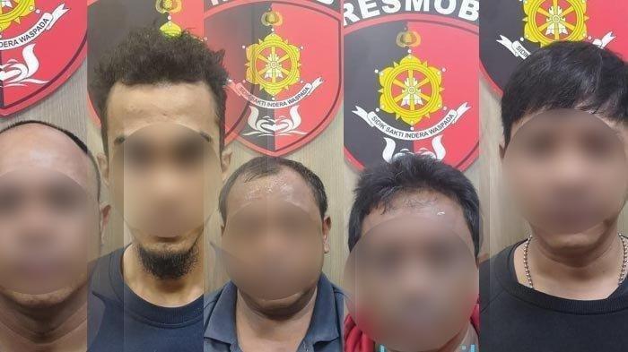Foto 5 pria yang sebelumnya disebut sebagai pelaku pengeroyokan TNI dan Brimob di Kebayoran. Kapolres Metro Jakarta Selatan menyebut foto ini bukan pelaku pengeroyokan itu.