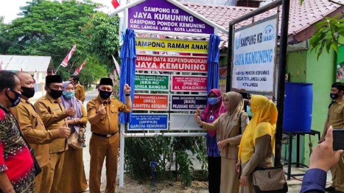 Wawali Kota Langsa Launching Rumah Dataku Gampong Pondok Kemuning