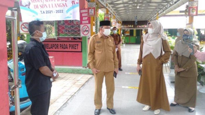 Wakil Walikota Langsa Monitoring KBM Tatap Muka Hari Pertama Masuk Sekolah