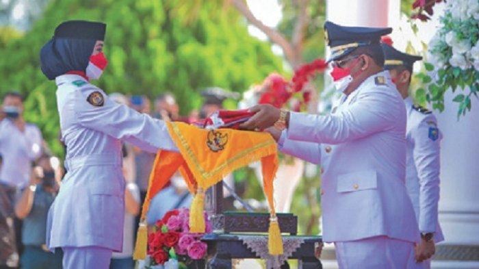 Wali Kota Banda Aceh Irup Penurunan Bendera, Berjalan Lancar dan Sukses, Apresiasi untuk Paskibra