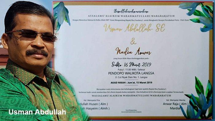 Resepsi Pernikahan Toke Seuem Digelar Sabtu,Tamu Undangan Dilarang Bawa Kado