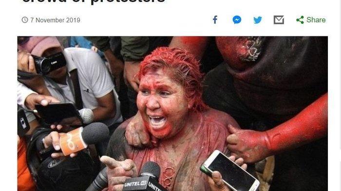 Walikota Wanita Ini Diserang Pengunjuk Rasa, Diguyur Cat hingga Rambutnya Dipotong Paksa, Sebabnya?
