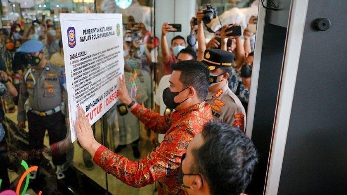 Bobby Nasution Segel Mall Center Point Medan, Nunggak Pajak Hingga Rp 56 Miliar & belum Miliki IMB