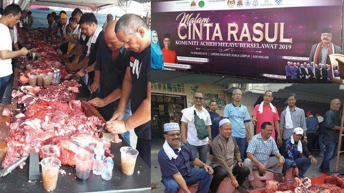 Warga Aceh di Kuala Lumpur Malaysia Peringati Maulid, Sembelih 5 Lembu dan 3 Kerbau