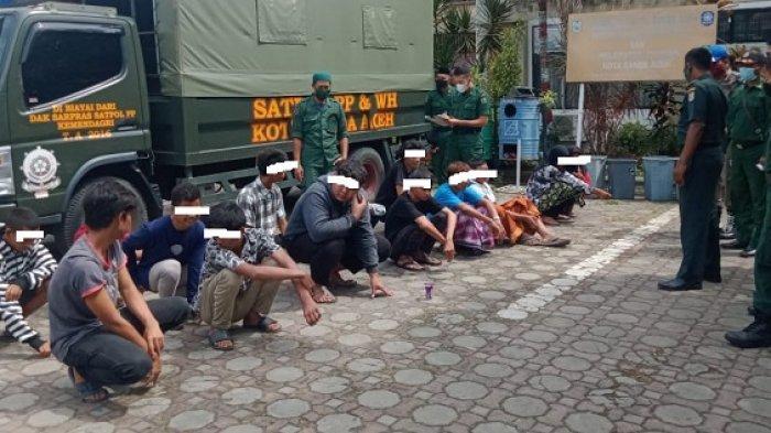 Warga Lambung Amankan 15 Remaja tak Berpuasa, 2 Wanita, Diserahkan ke Satpol PP dan WH Banda Aceh