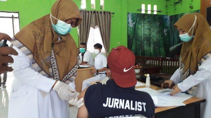 Sejumlah Wartawan di Nagan Raya Ikut Vaksin Covid-19, Begini Perkembangan Positifnya