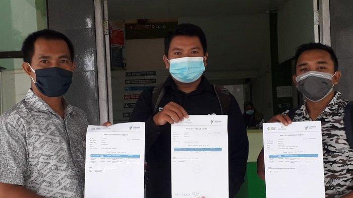 Kadinkes Nagan Raya Ajak Wartawan Jadi Duta Vaksinasi Covid-19, Tiga Jurnalis Disuntik Dosis Kedua