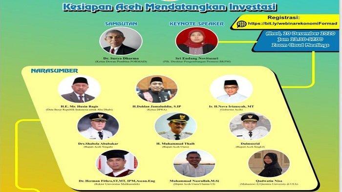 Dubes RI untukAbu Dhabi, Gubernur Aceh, Ketua DPRAdan Sejumlah Bupati BicaraInvestasi di Aceh