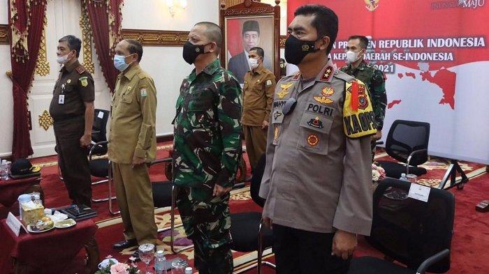 Kapolda Aceh Dengar Arahan Presiden Via Vicon Terkait Penanganan Covid-19