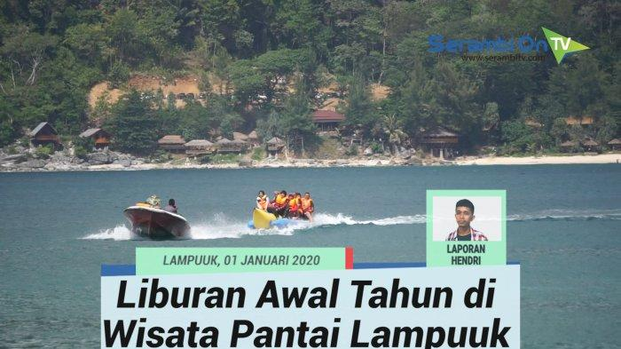 Kawasan wisata Pantai Lampuuk, Aceh Besar menjadi salah satu primadona masyarakat berlibur bersama kerabat maupun keluarga.