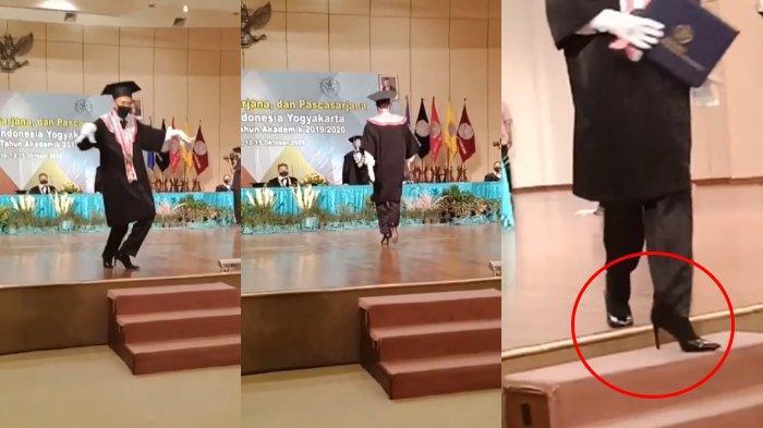 Viral Tingkah Wisudawan Menari Hingga Berjalan Bak Model di Panggung, Sepatu Heelsnya Bikin Salfok