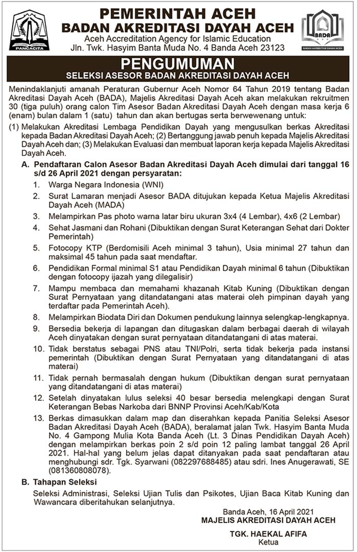 Badan Akreditasi Dayah Aceh