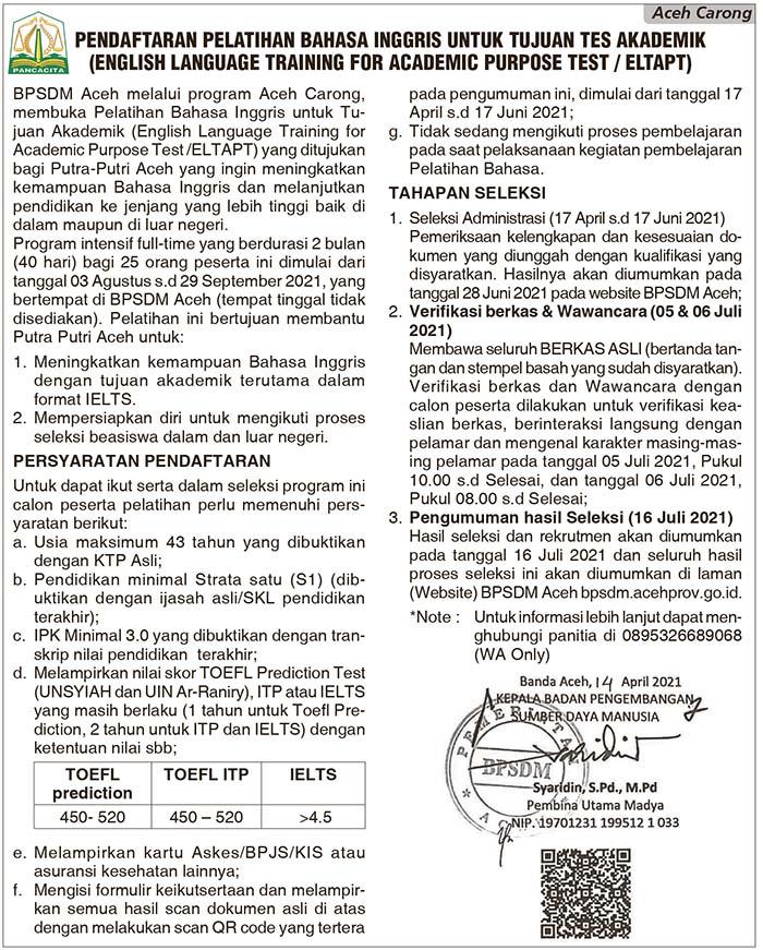 BPSD Aceh Carong