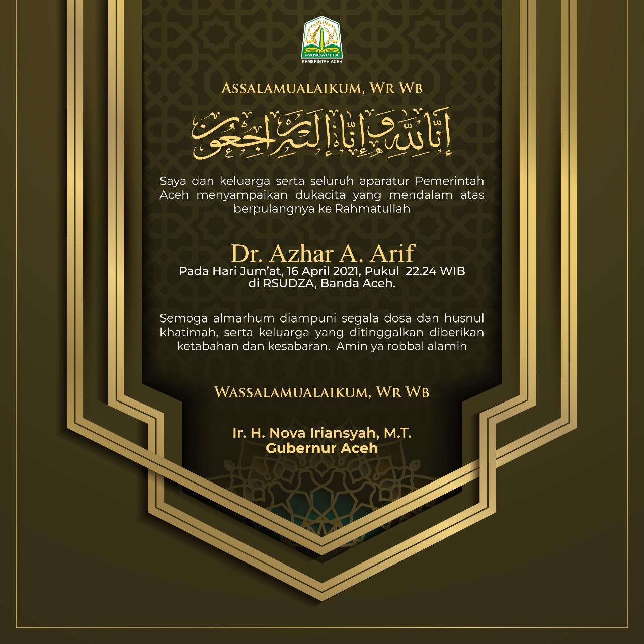 Dr. Ir. Azhar A. Arif, MT
