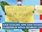 VIDEO - Aksi Tim Penyelemat Gubernur Aceh, Dukung KPK Selidiki Kasus Mega Korupsi di Aceh thumbnail