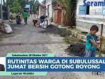 VIDEO Rutinitas Warga di Kecamatan Simpang Kiri Subulussalam, 'Jumat Bersih' Gotong Royong di Lorong