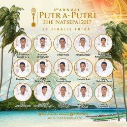 FLYER pengumuman Husin Ratuanik masuk 15 finalis Putra The Natsepa 2017. Almarhum Husin Suat atau Sein