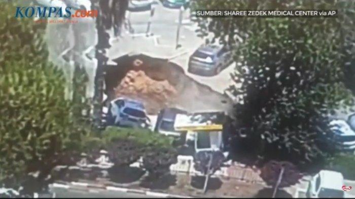 Video Sinkhole Terjadi di Yerusalem, Telan Sejumlah Mobil