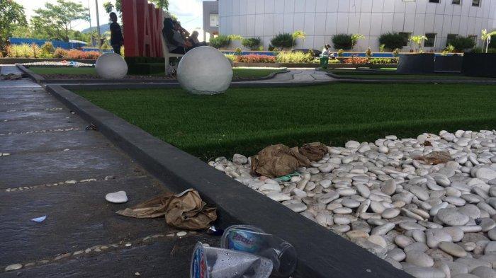 Dibuka Untuk Umum, Taman I Am Ambon Kembali Berserakan Sampah