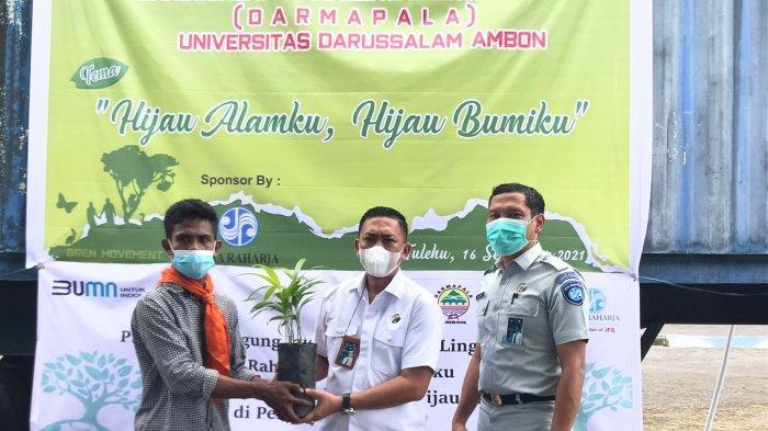 Jaga Kelestarian Alam, Darmapala Gandeng Jasa Raharja Hijaukan Pelabuhan Tulehu