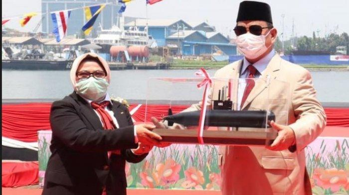 Prabowo Subianto Resmikan Kapal Selam Buatan Anak Bangsa, Alugoro-405