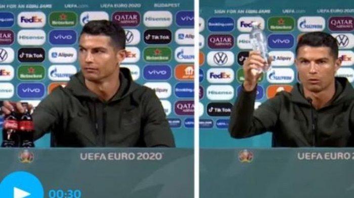 Aksi Cristiano Ronaldo Singkirkan Minuman Soda Buktikan Teori Butterfly Effect