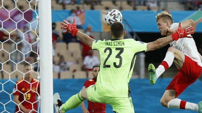 Laga Grup E Euro 2020 yang mempertemukan Spanyol vs Polandia di Stadion Olimpiade Sevilla pada Minggu (20/6/2021) dini hari WIB.