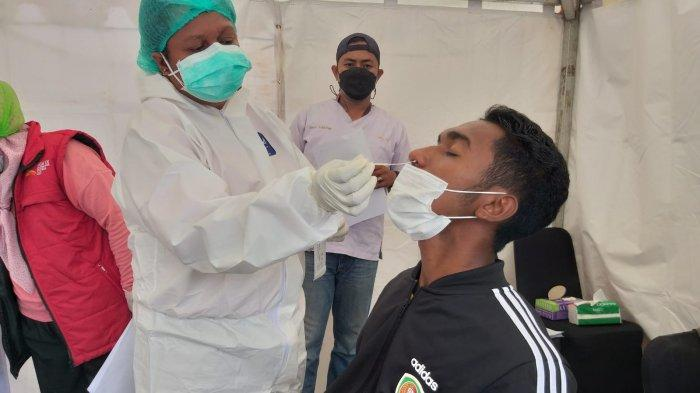 Aktivasi ID Card PON XX, Atlet Maluku Jalani Rapid Test Antigen