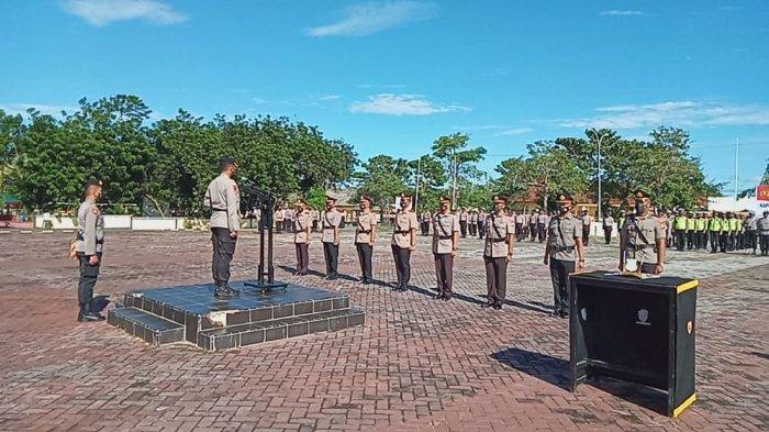 Serah Terima Jabatan, Kabagren dan Tiga Kapolsek di Jajaran Polres Pulau Buru Diganti