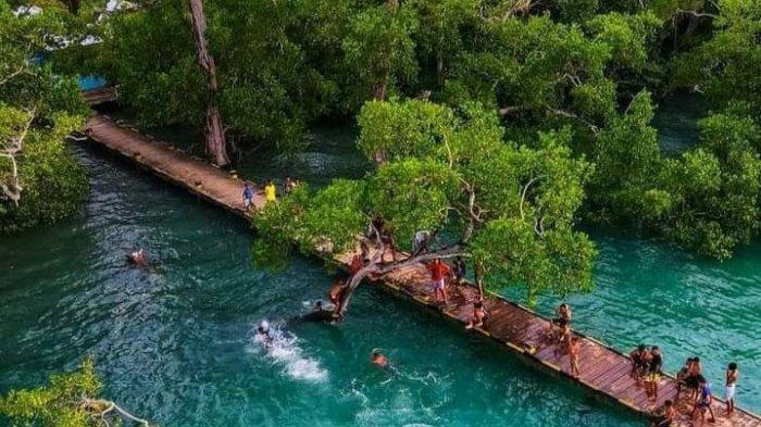Sempat Viral di Sosmed, Dermaga Mini di Hutan Mangrove Namano Jadi Wisata Pemandian Warga