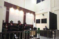 NARKOBA - Sidang pembacaan pledoi atau pembelaan atas tuntutan jaksa di Pengadilan Negeri Ambon, Senin (25/1/2021).