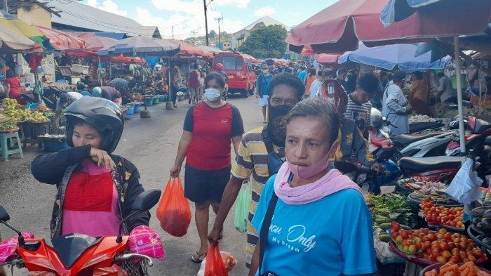 Satgas Covid-19 Ambon Sulit Tertibkan Kerumunan Pasar Mardika Tanpa Ada Pendampingan Dinas Terkait