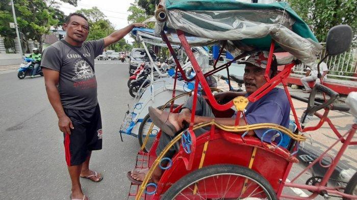 Tukang Becak di Kota Ambon Jadi Perhatian Dishub Pasca-Penutupan Jalan Rijali