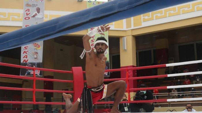 Atlet Muaythai Maluku Gagal Melaju ke Final Waikru Putra PON XX