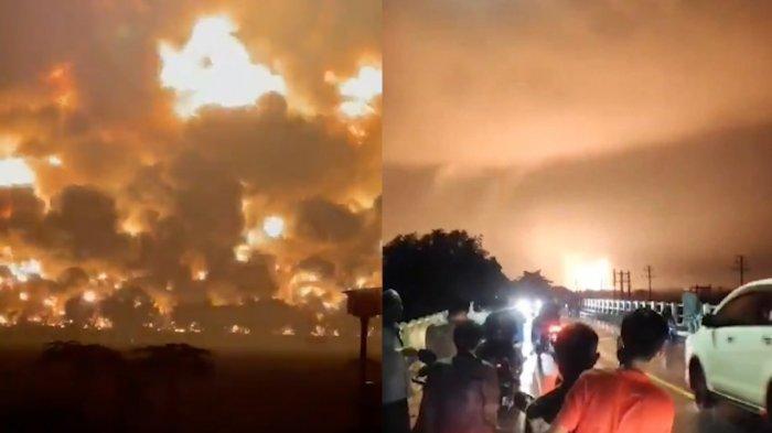30 Menit Sebelum Tangki Pertamina Meledak, Warga Gelar Aksi Protes Akui Sesak Napas akibat Bau Gas