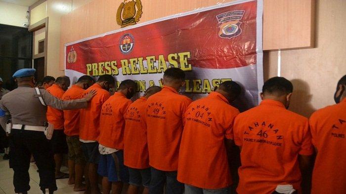 5 Pemakai Narkoba Diciduk di Sejumlah Lokasi di Ambon, Total 54 Paket Barang Haram Diamankan