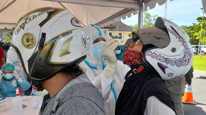 357 Orang Ikut Rapid Test Antigen Drive Thru di Lapangan Tahapary, 3 Terjaring Positif