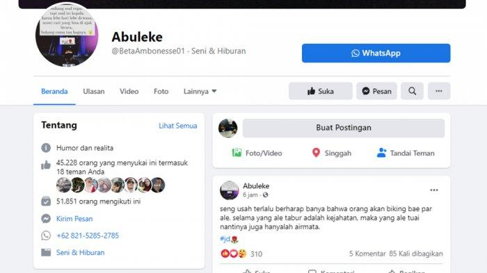 Pesan Motivasi Berdialeg Ambon, 'Abuleke' Gait 51 Ribu Followers