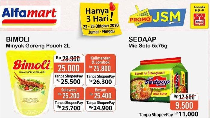 Promo Jsm Alfamart 23 25 Oktober 2020 Minyak Goreng Bimoli 2 Liter Rp 25 000 Tribun Ambon