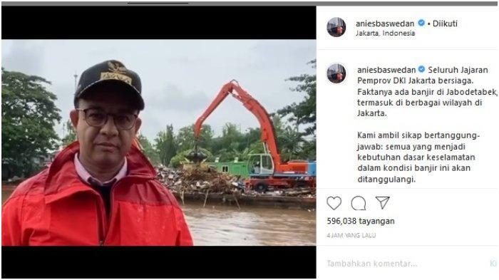 Sejumlah Wilayah Jakarta Terendam Banjir, Anies Baswedan Tegaskan akan Bersiaga Penuh