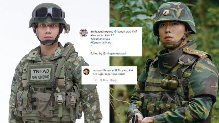 Annisa Pohan Sandingkan Foto Suami dengan Hyun Bin Kenakan Seragam Tentara, AHY: Yang Kiri Oke Juga