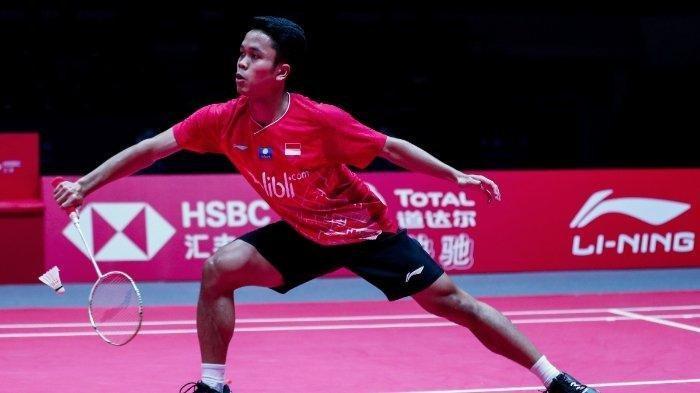 Jadwal BWF World Tour Finals 2019 Anthony Ginting dan Ahsan/Hendra, Tayang di TVRI Siang Ini